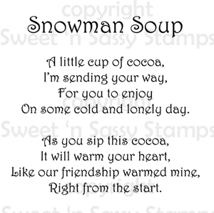 Cute Snowman Poems Sweet 'n sassy stamps: a little snowman soup ~